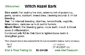 Witch Hazel Bark